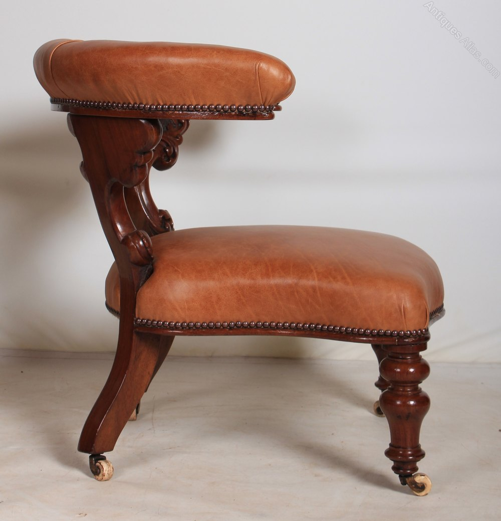 Low Captains Desk Chair Antiques Atlas