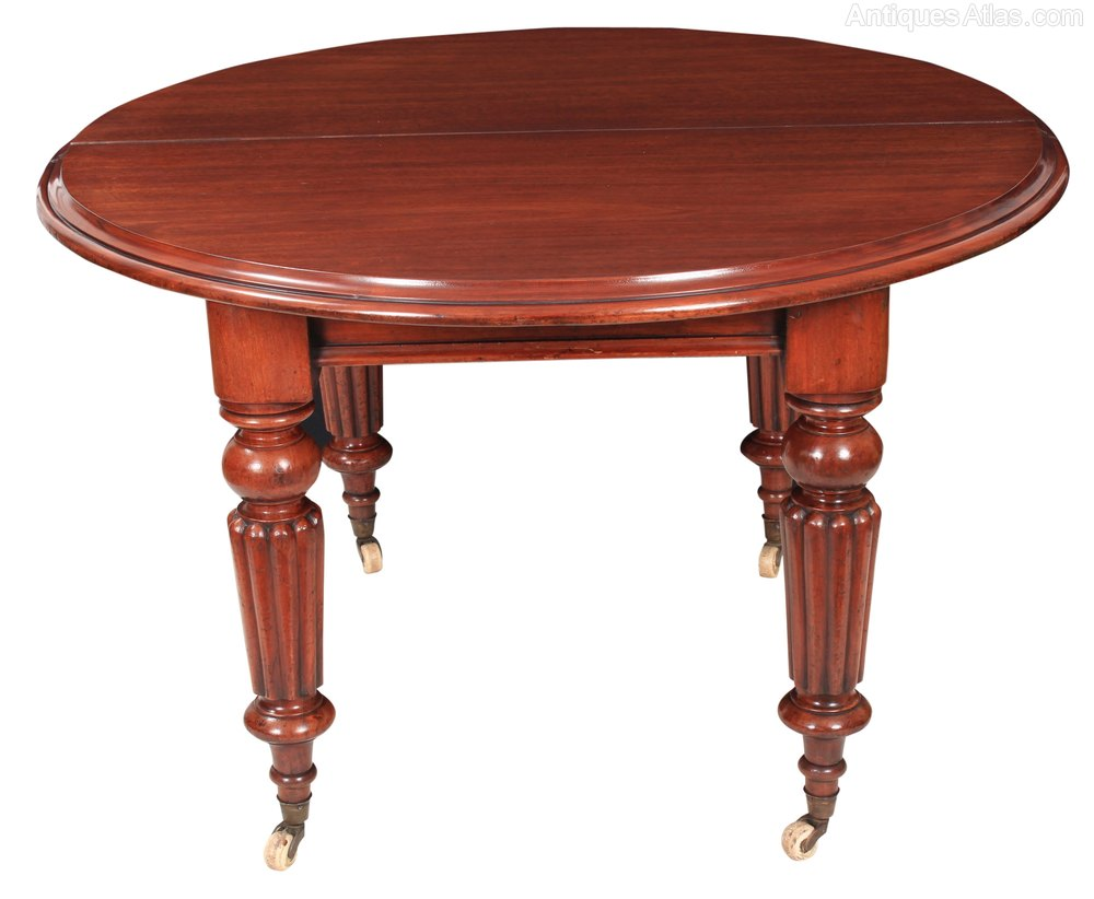 mahogany round extending dining table antiques atlas. Black Bedroom Furniture Sets. Home Design Ideas