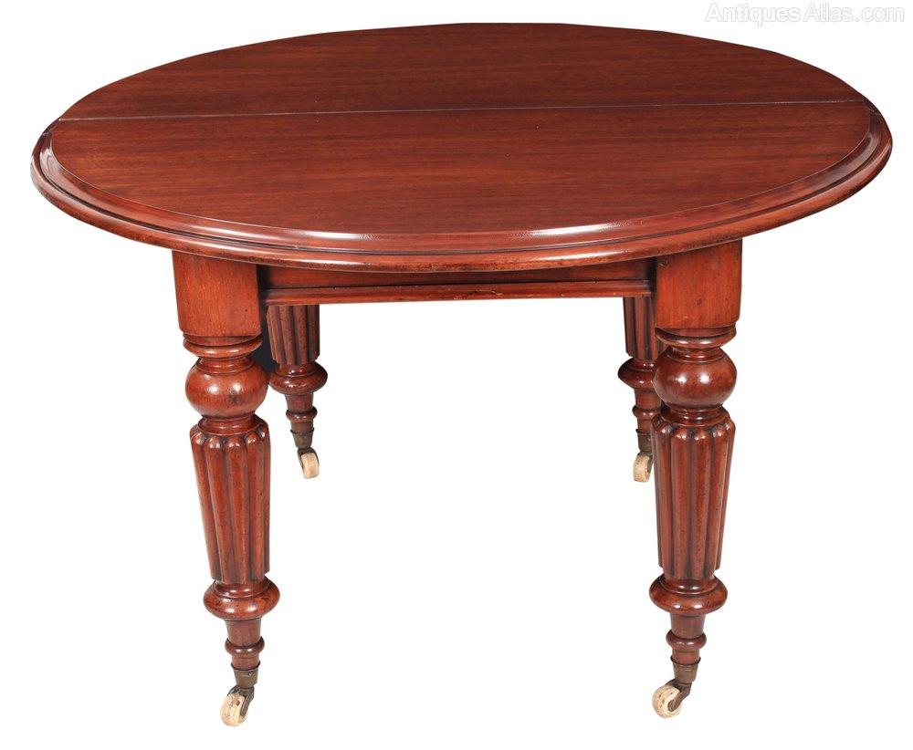 Mahogany Round Extending Dining Table Antiques Atlas : MahoganyRoundExtendingDininas287a2098z from antiquesatlas.com size 1000 x 822 jpeg 75kB