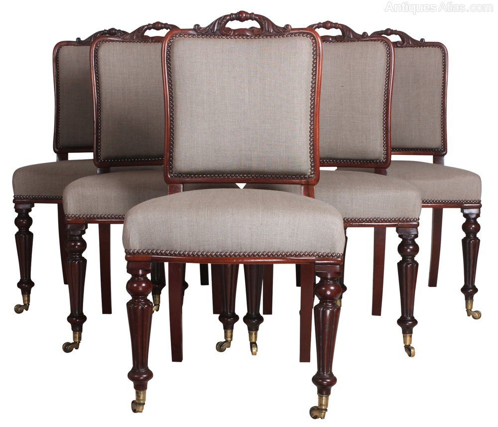Set Of 6 Mahogany Dining Chairs Antiques Atlas