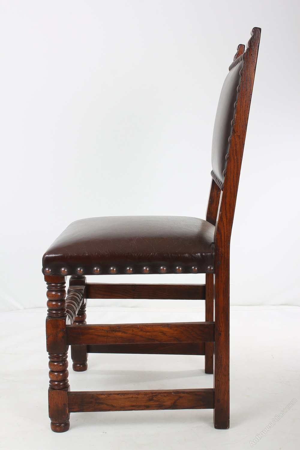 Antiques Atlas Set Of 8 Oak And Leather Dining Chairs 6 2