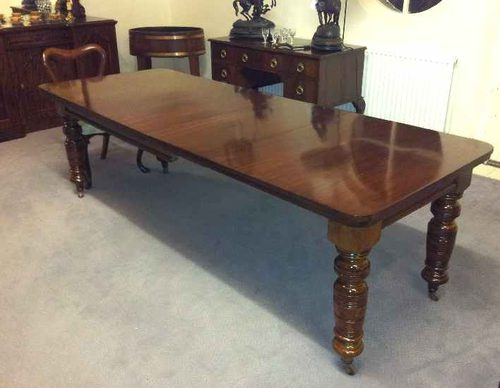 Mahogany 10 seater dining table antiques atlas for 10 seater dining table