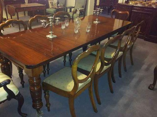 Mahogany 10 seater dining table antiques atlas for 10 seat dining table