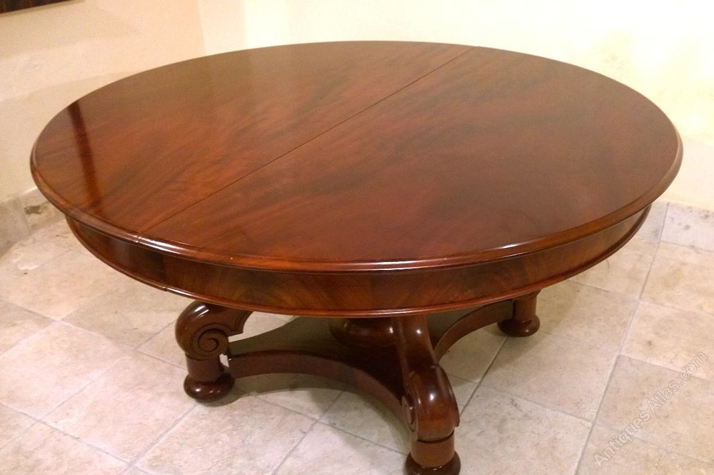 Mahogany dining table 4 leaves stunning quality for Quality dining tables