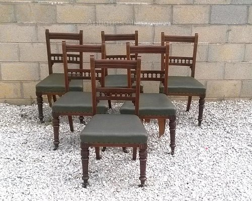 Solid Set Of Six Dining Chairs C1900 Antiques Atlas