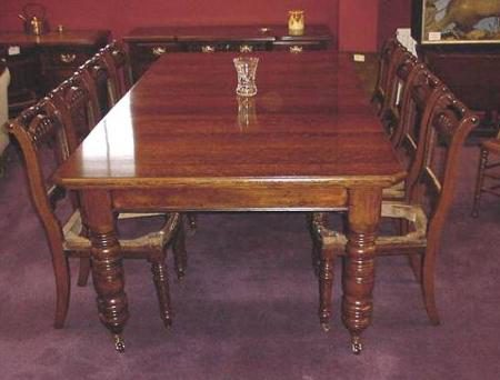 Two leaf 10 seater oak dining table antiques atlas for 10 seater dining room table and chairs