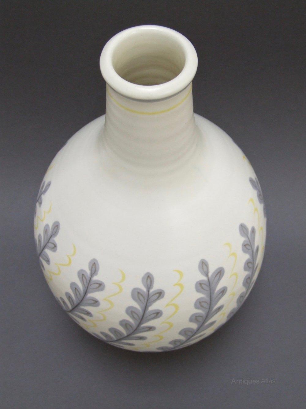 Antiques Atlas Huge Poole Pottery Freeform Vase By