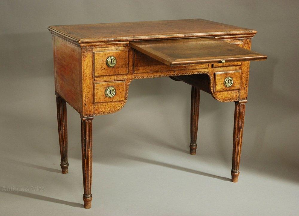 18thc continental walnut freestanding desk table for Table vs desk