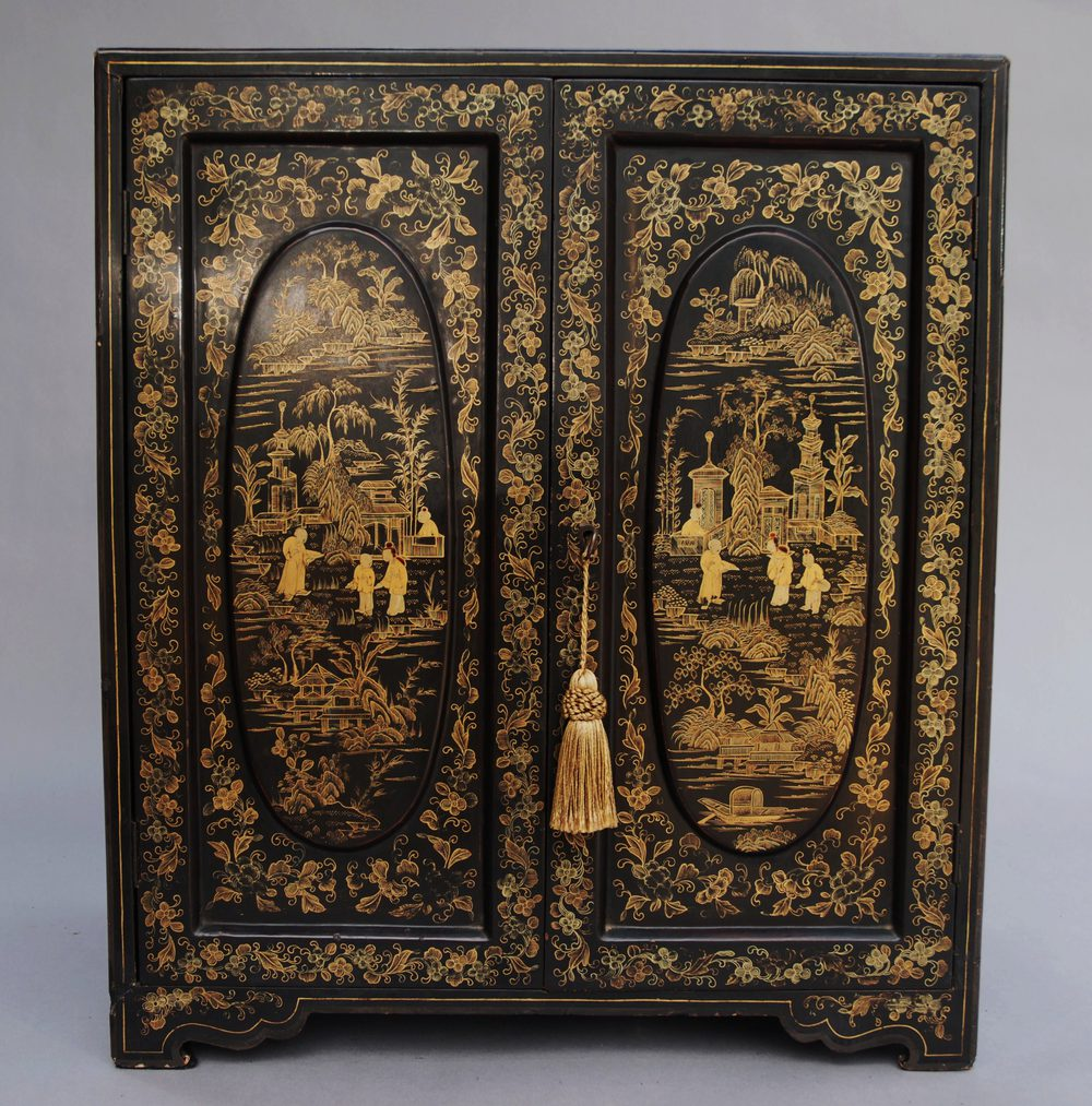 19thc Chinese Lacquered Table Cabinet Antiques Atlas