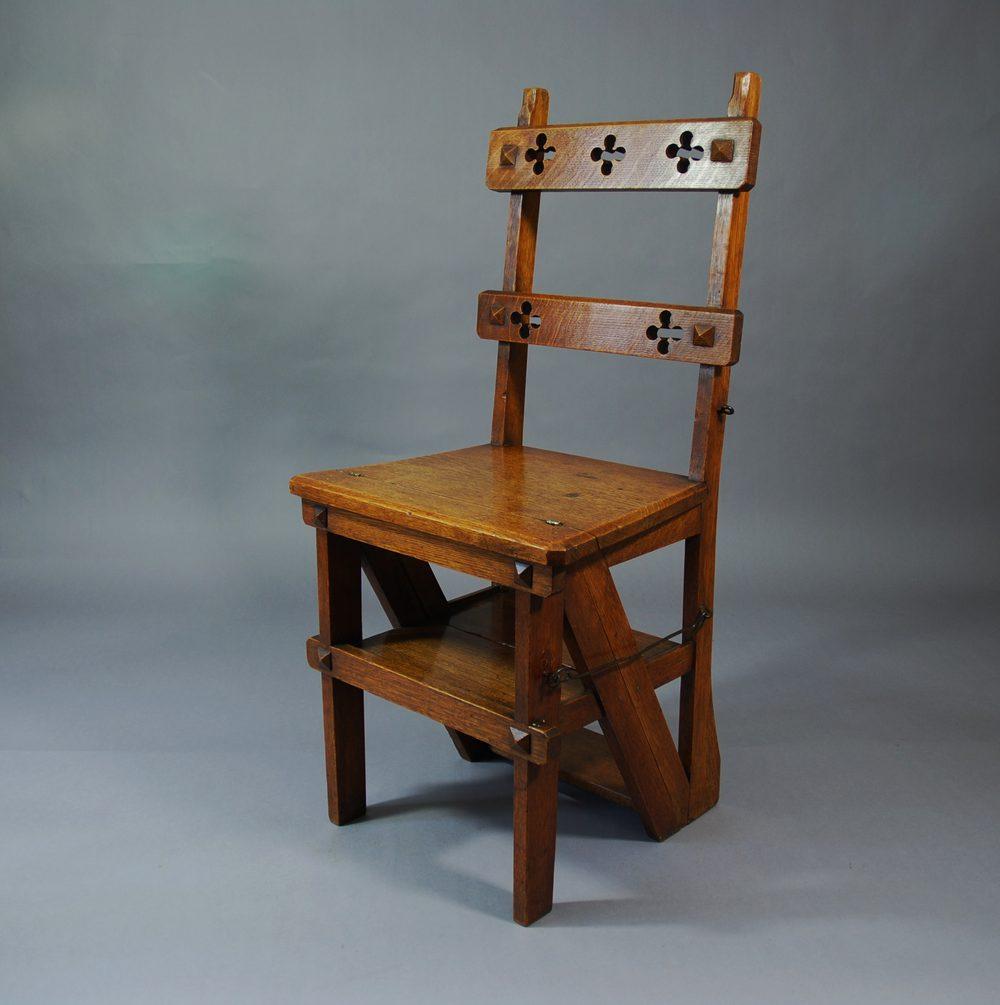 Arts Crafts Oak Metamorphic Chair Antiques Atlas