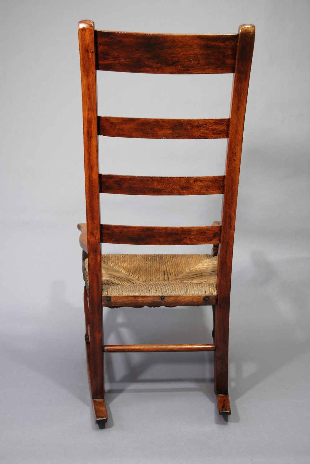 Birch Ladder Back Rush Seated Rocking Chair Antiques Atlas