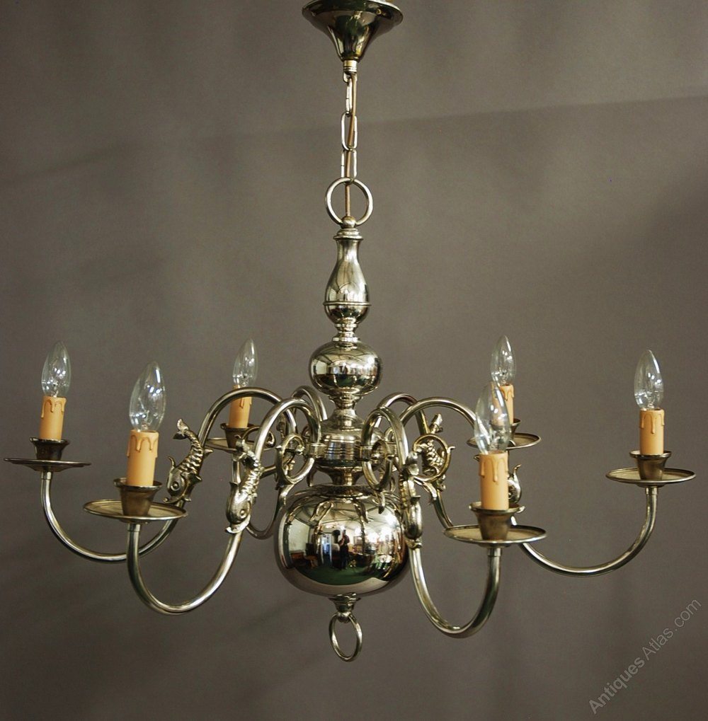 Antiques Atlas Chromed Dutch Baroque Six Branch Brass