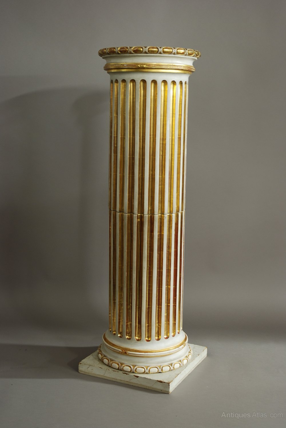 Columns For Sale >> Antiques Atlas - Classical Style Carved Wooden Fluted Column