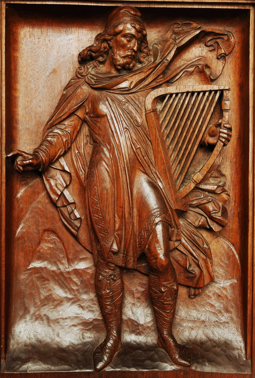 Antiques Atlas Continental Relief Carving Of A Medieval Man