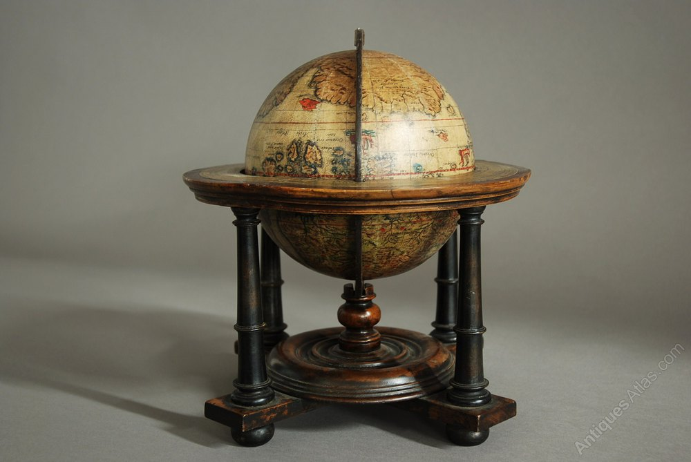 Antiques Atlas Edwardian Terrestrial Table Globe