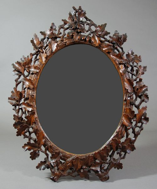 Antiques Atlas Late 19thc Black Forest Mirror