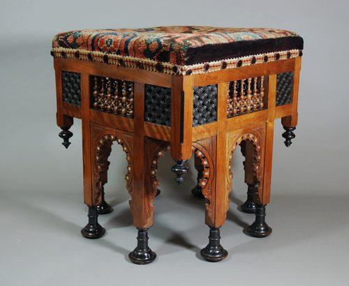 Liberty Amp Co Moorish Upholstered Stool Antiques Atlas