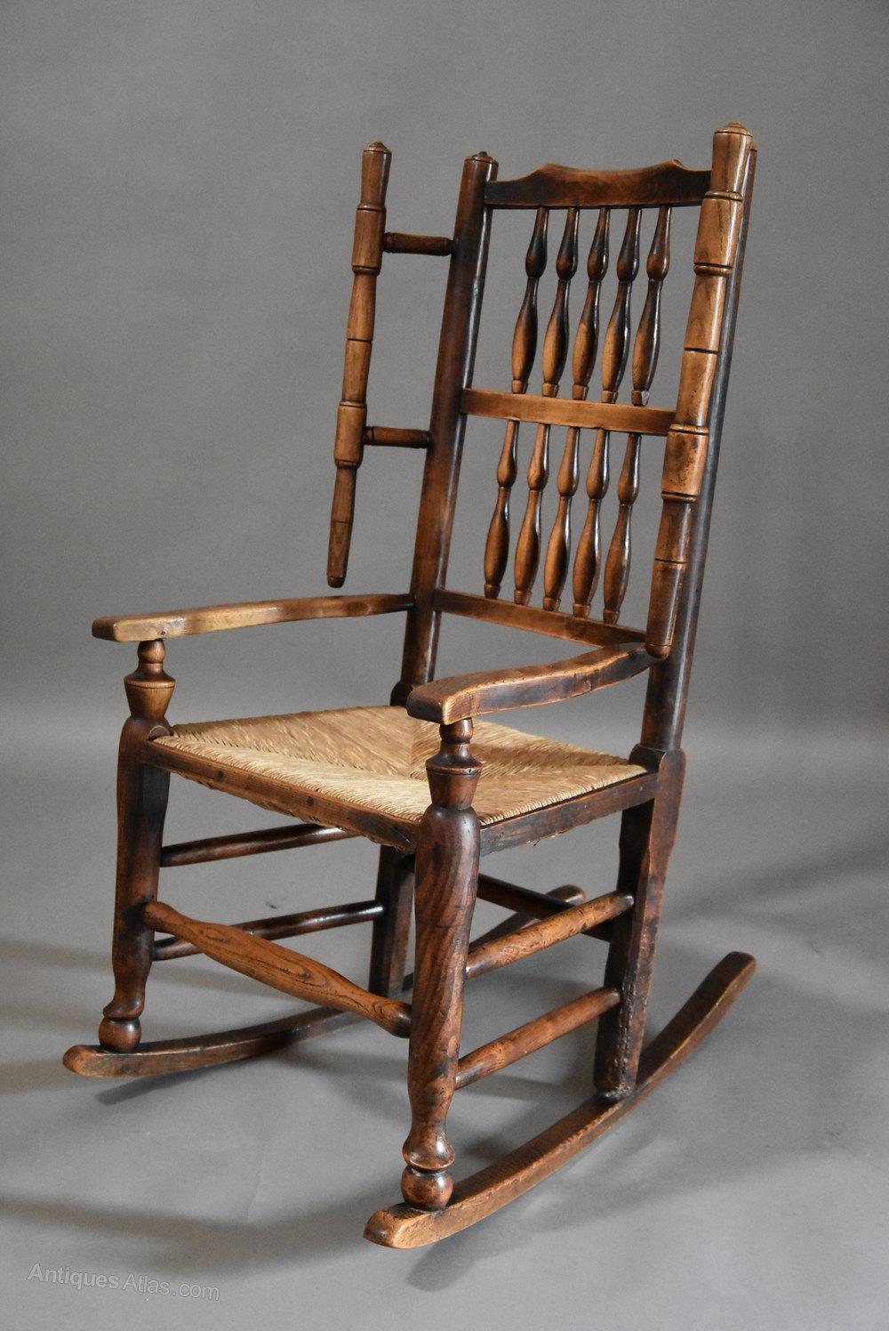 mid 19thc ash rocking chair or nursing chair antiques atlas. Black Bedroom Furniture Sets. Home Design Ideas