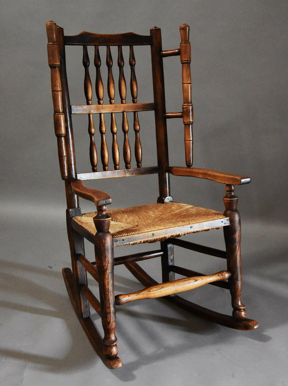 mid 19thc ash rocking chair or nursing chair antiques atlas. Black Bedroom Furniture Sets. Home Design Ideas
