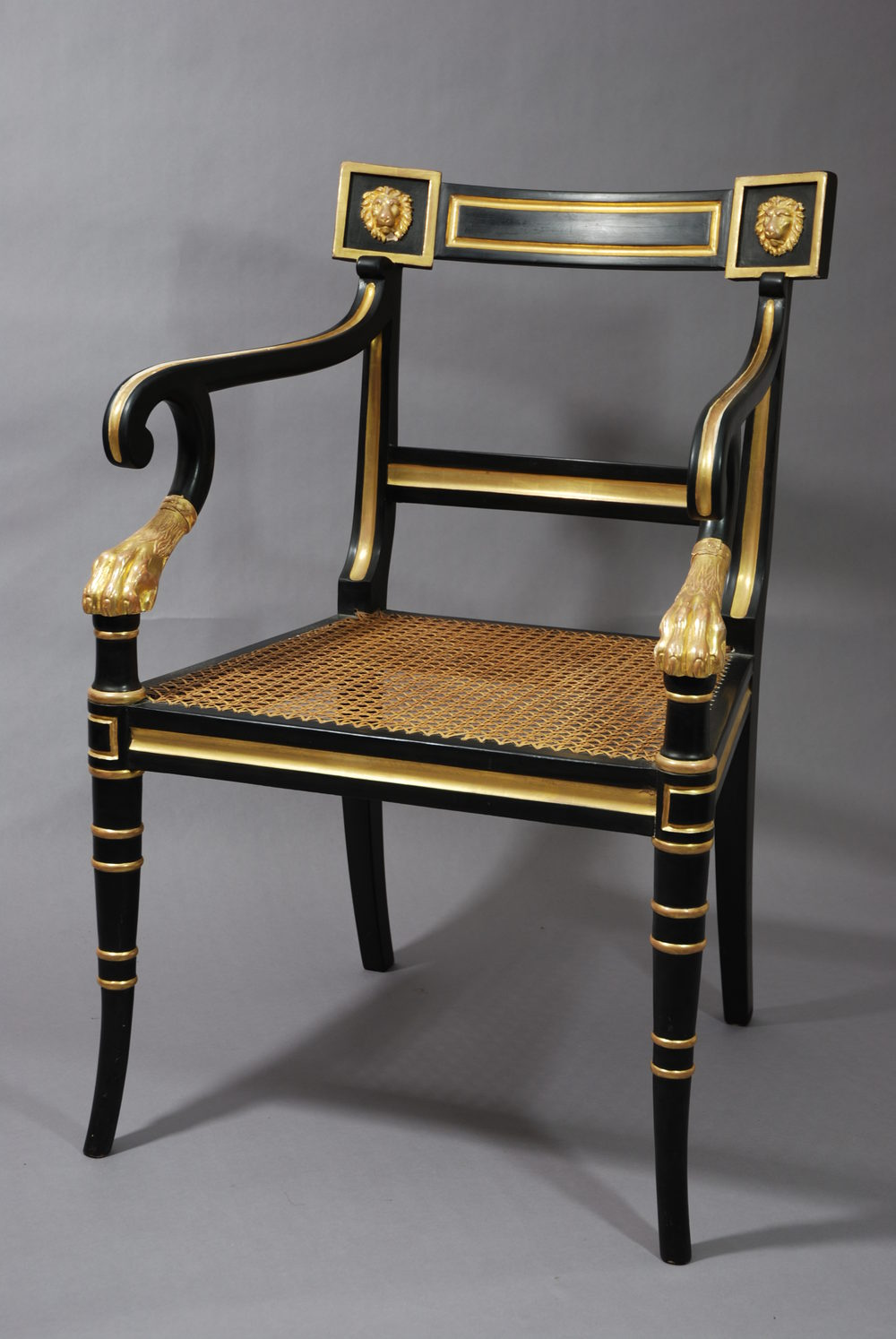 Regency Style Chairs ~ Antiques atlas regency style open armchair
