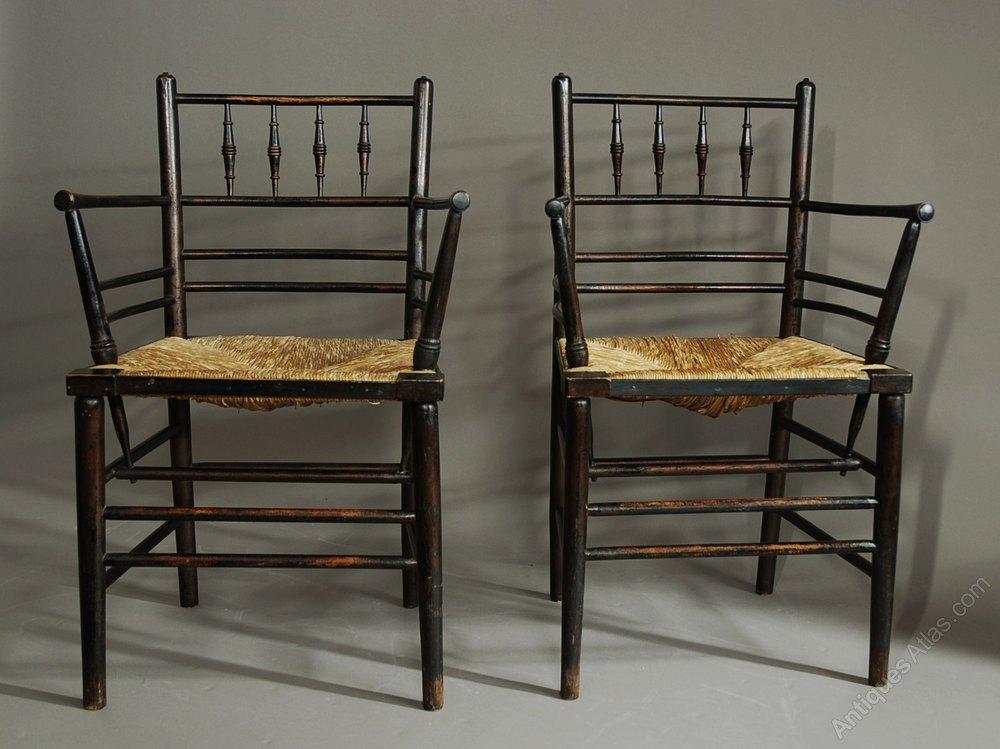 Set Of Six Morris Amp Co Sussex Chairs Antiques Atlas