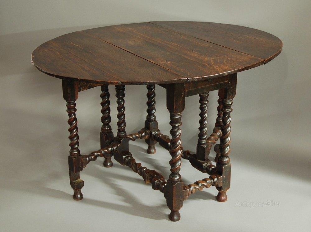 Small 17th Century Oak Gateleg Table Antiques Atlas
