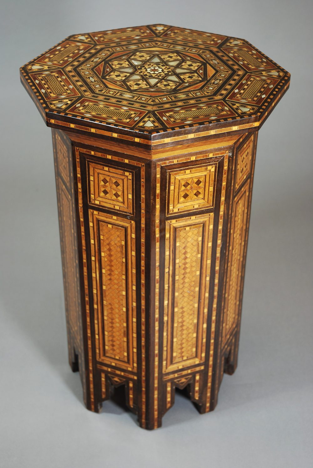 Syrian octagonal inlaid occasional table antiques atlas for Occasional tables