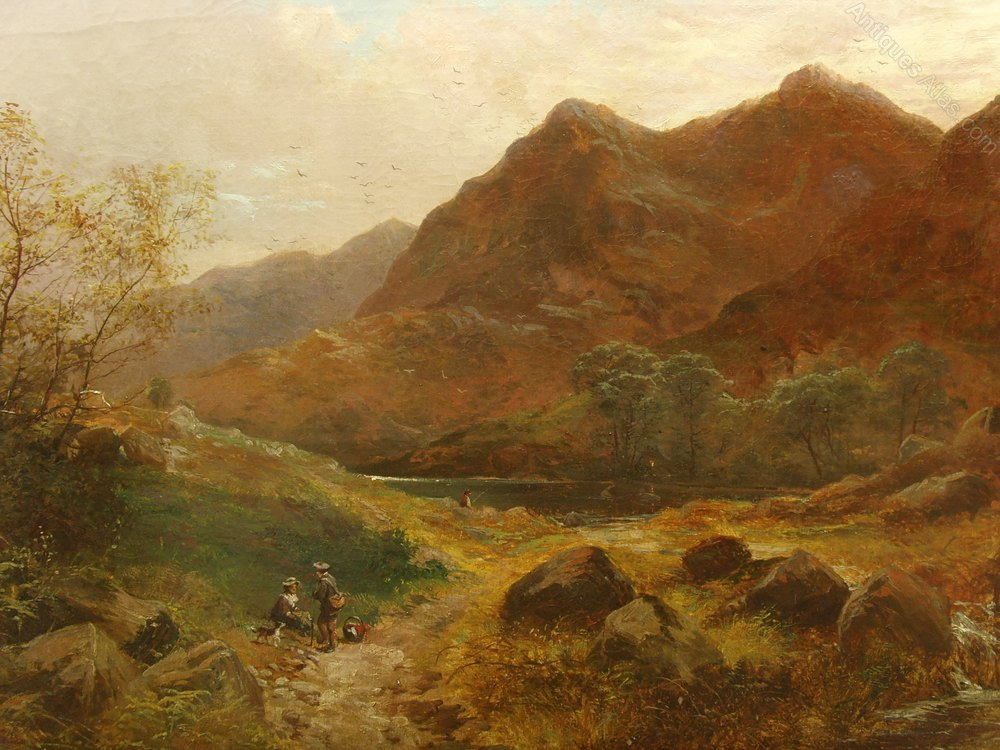 Antiques Atlas 19thc Scottish Landscape Oil Painting Of Loch