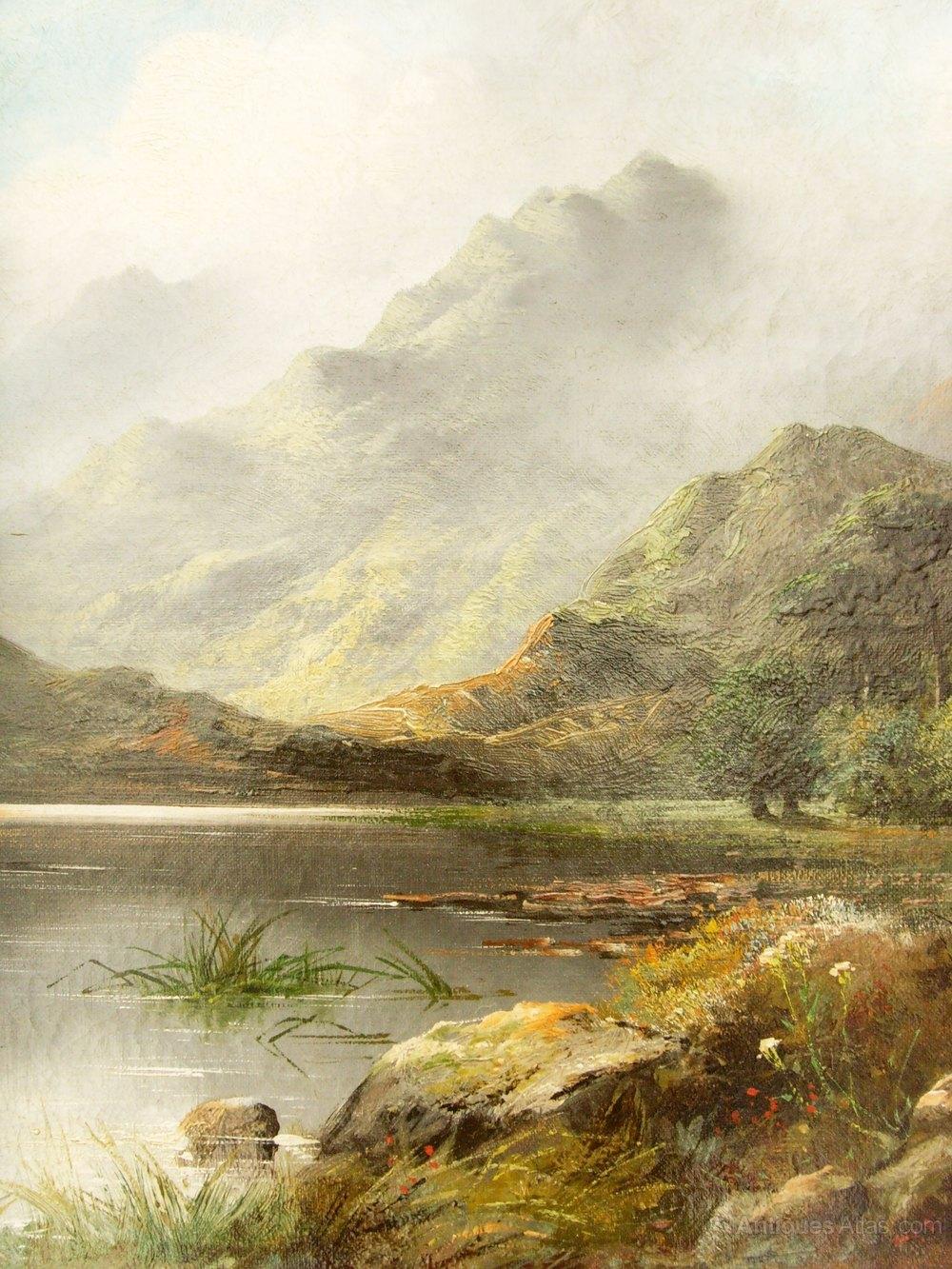 Antiques Atlas Scottish Landscape Oil Painting Of Loch