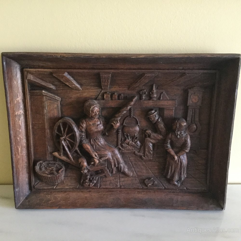 Antiques Atlas 2 19thc Black Forest Carved Wooden Wall