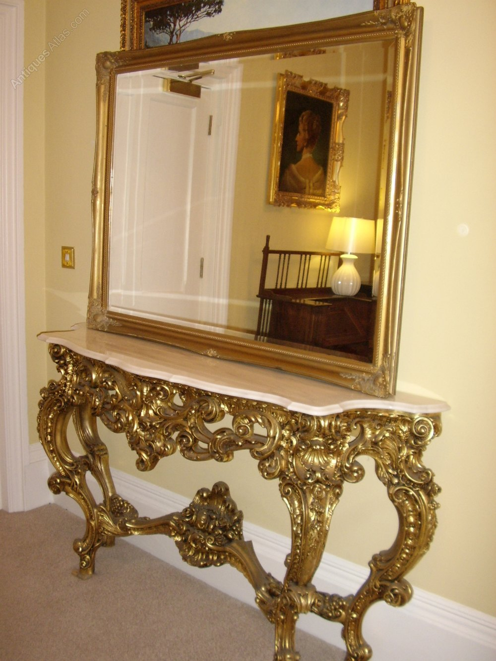 Antiques Atlas Antique Wall Mirror Gilt Carved Frame 54