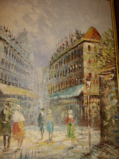 Antiques Atlas Impressionist Oil Painting Of French Street Scene