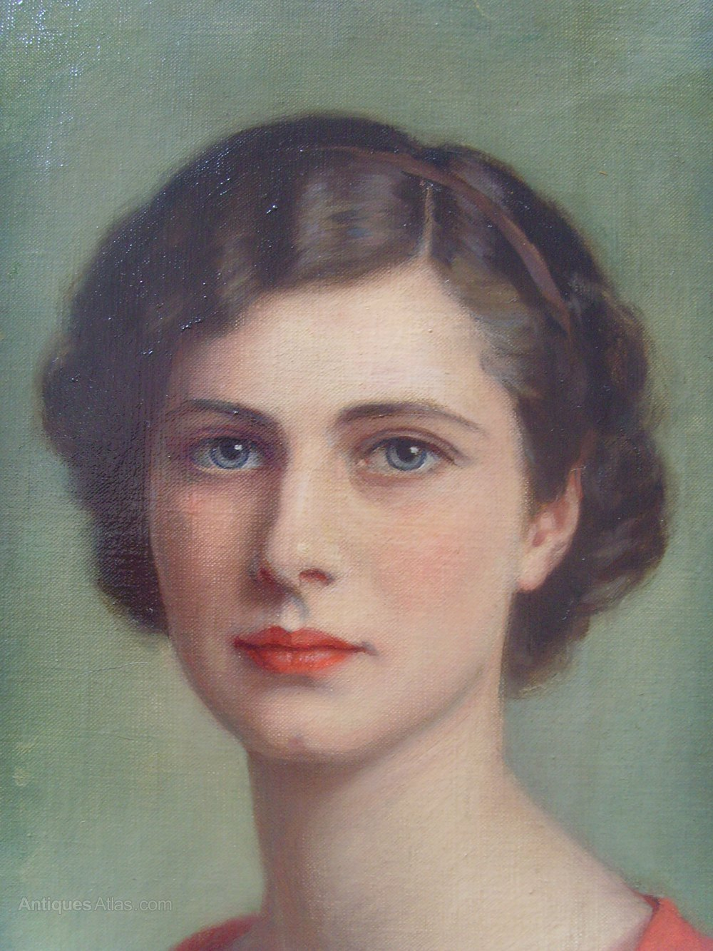 Antiques Atlas - Oil Painting Portrait Of Averil Kingston ...