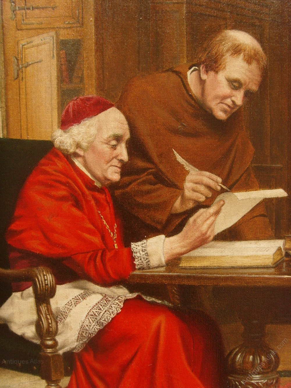 Antiques Atlas - Oil Painting Of Catholic Cardinal In His ...