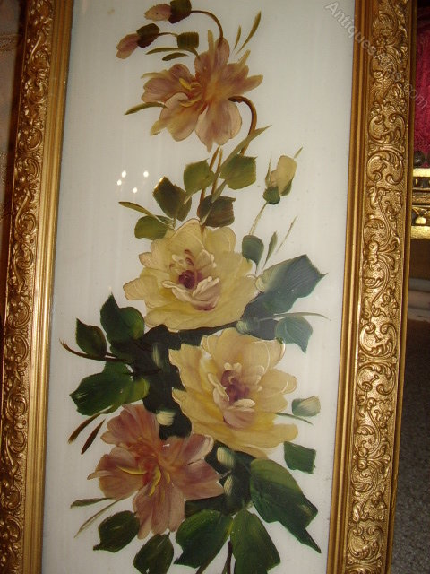 Antiques Atlas Pair Of Victorian Paintings Of Flowers On