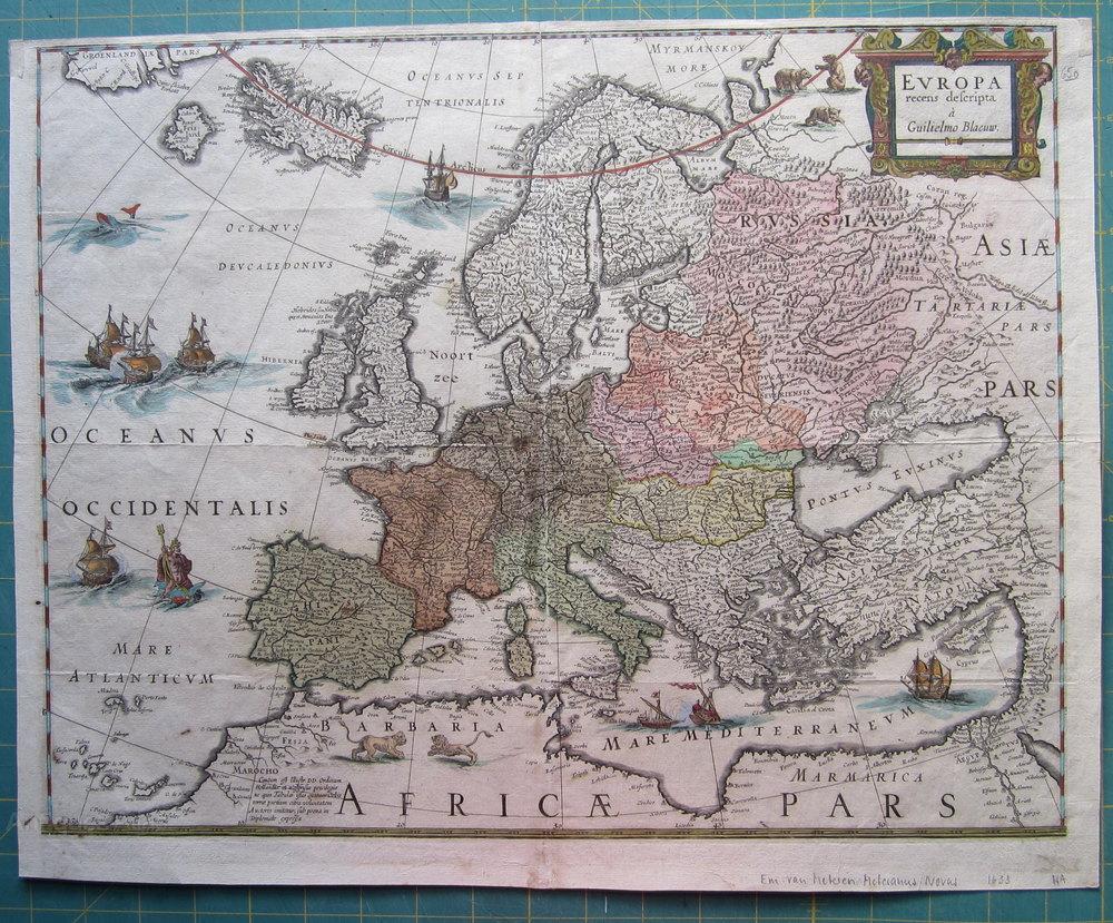 Antiques Atlas Rare Map Of Europe