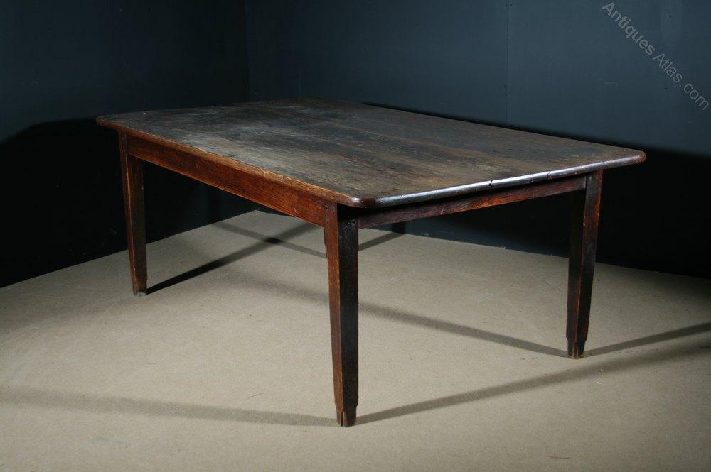 Large Pine Farmhouse Table Antiques Atlas