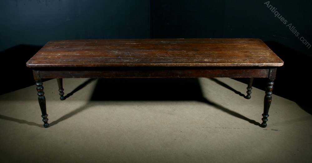 Very Large Pine Farmhouse Table Antiques Atlas