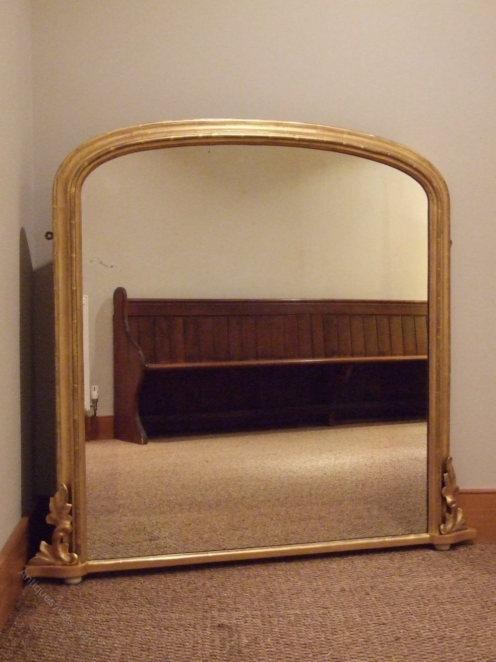 Antiques atlas english gilt overmantle mirror dated 1879 for Overmantle mirror