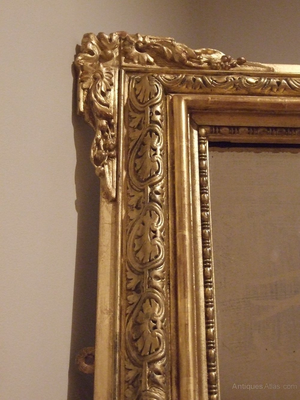 Antiques atlas large french antique gilt mirror c1885 for French mirror