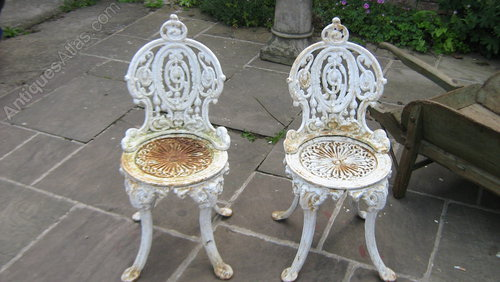 - Antiques Atlas - A Pair Of Victorian Cast Iron Garden Chairs