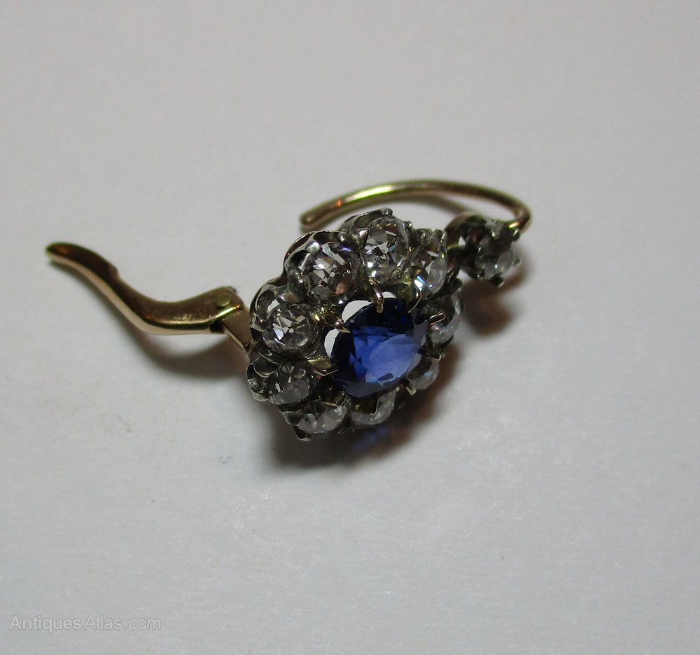 antiques atlas antique sapphire and earrings c1890
