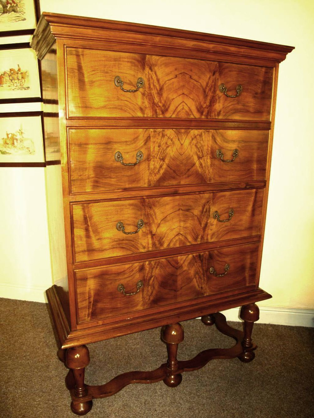 Antique Walnut Chest On Stand Antiques Atlas