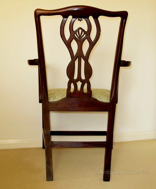 Victorian mahogany open arm desk chair antiques atlas