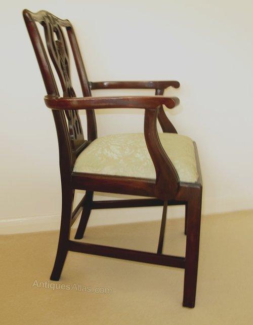 Cherry Desk Open Arm Chairs ~ Victorian mahogany open arm desk chair antiques atlas