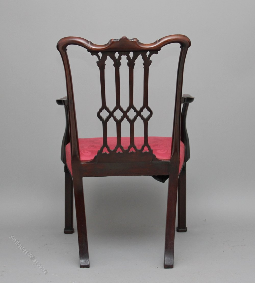 18th Century Mahogany Chippendale Armchair Antiques Atlas