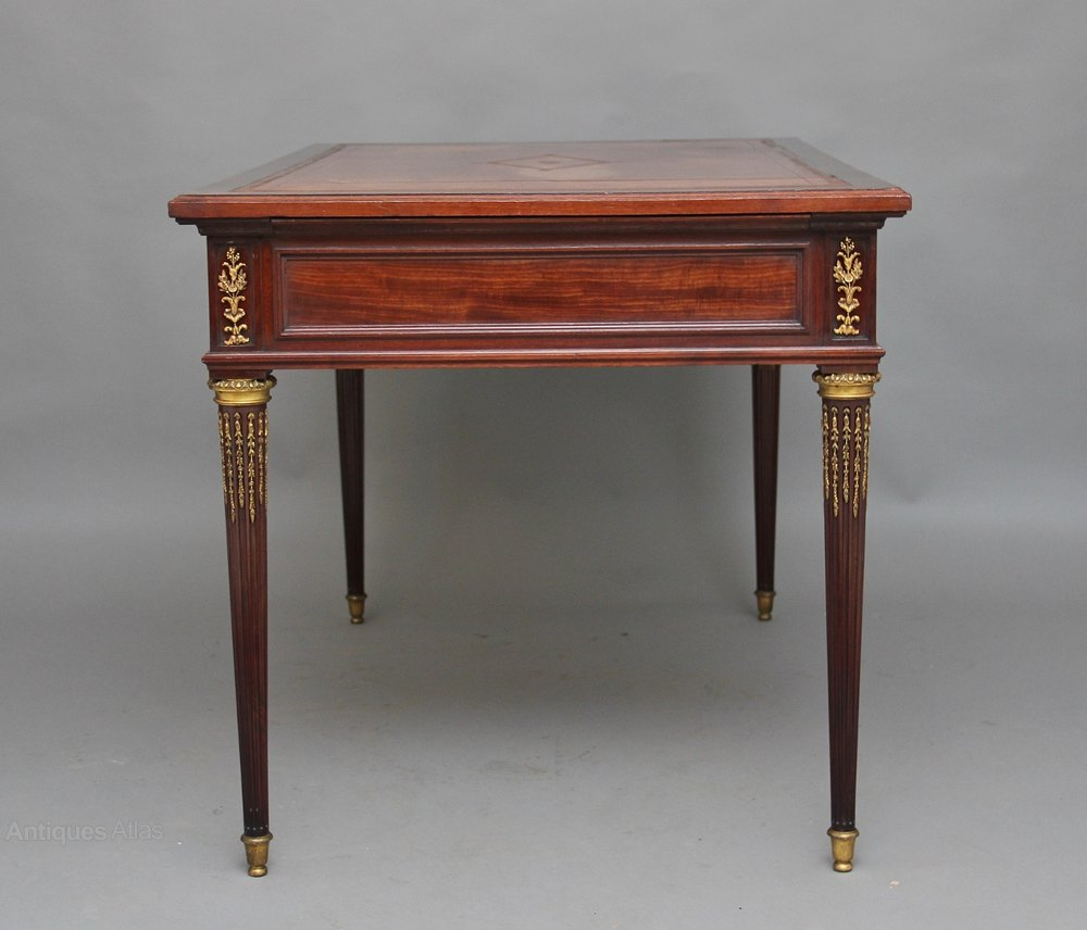 19th century directoire style mahogany writing table. Black Bedroom Furniture Sets. Home Design Ideas