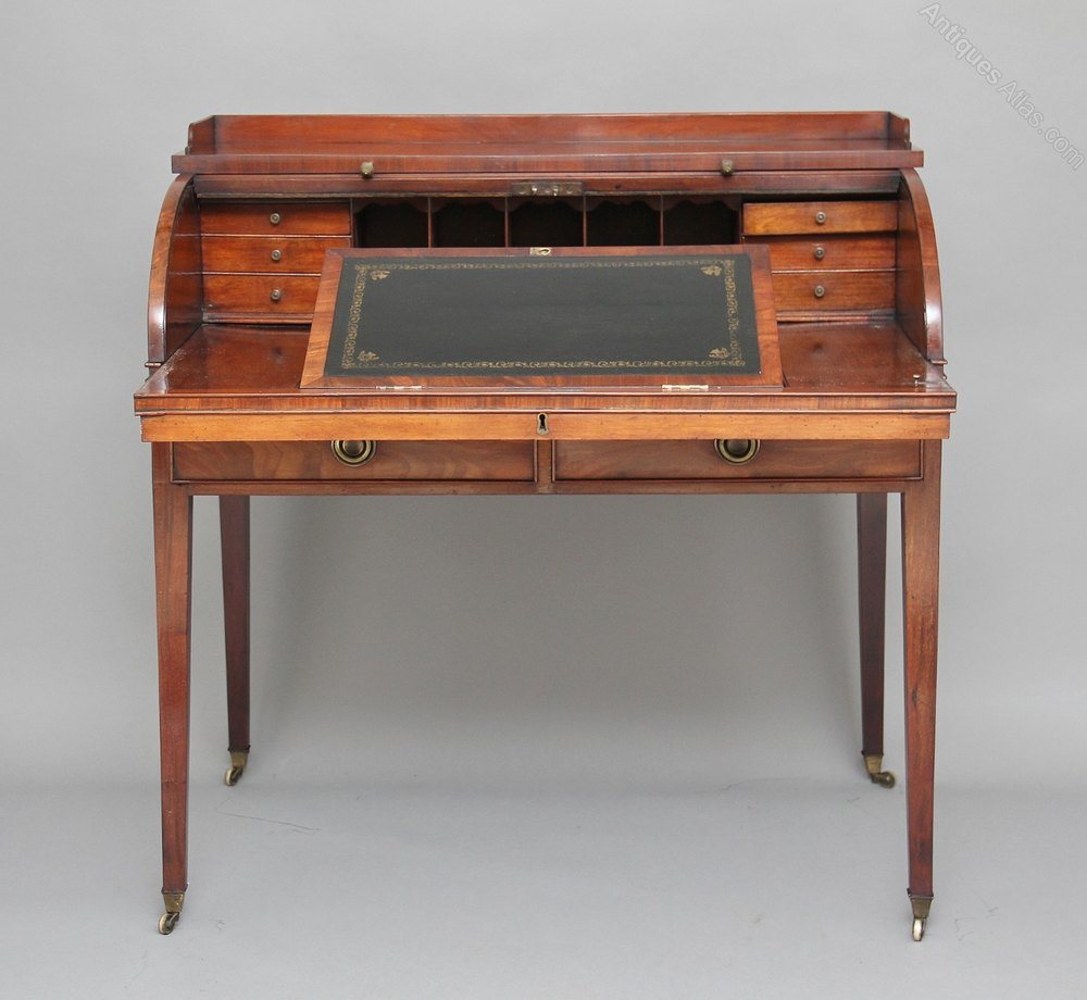 Antique Mahogany Roll Top Desk
