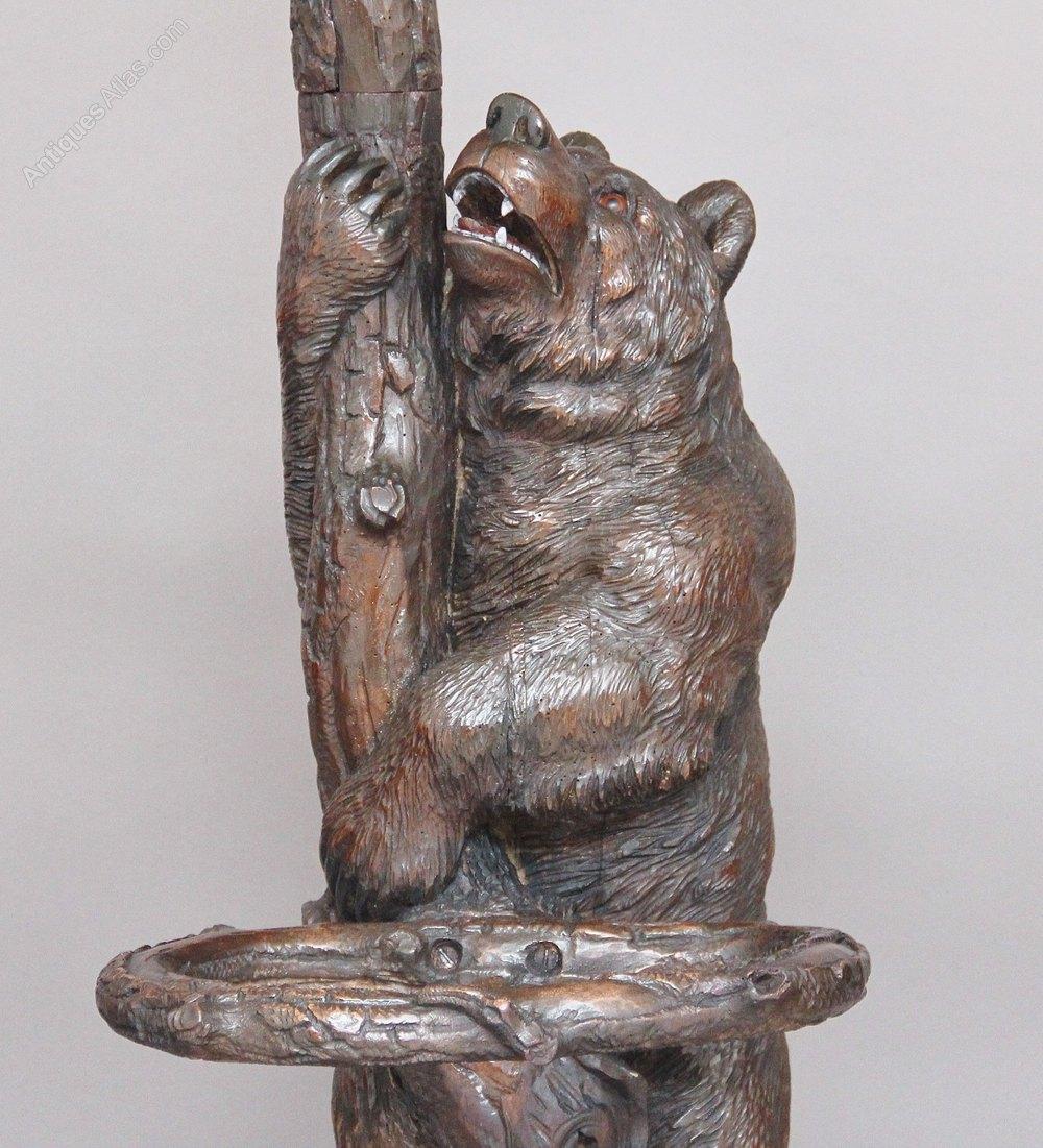 a 39 black forest 39 carved wood bear coat stand antiques atlas. Black Bedroom Furniture Sets. Home Design Ideas