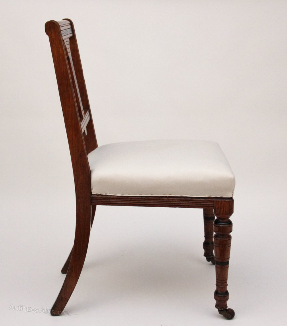 A set of 24 oak dining chairs antiques atlas for Oak dining chairs